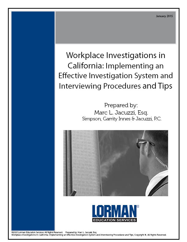 Workplace Investigations in California